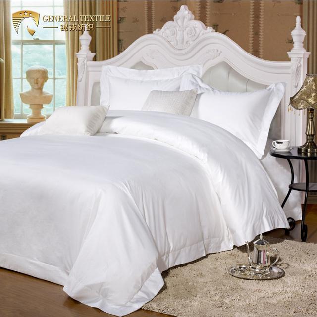 pure cotton luxury hotel bedding set Full bed sheet set