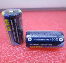 NEW battery CR123 RCR123A CR123A DL123A EL123A K123 3V 500mah 1.5wh Digital camera rechargeable lithium battery LI-ION battery