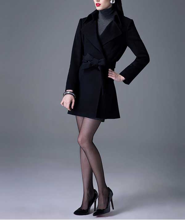 2014 women coat and skirt slim with double row button