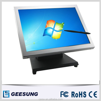 Good quality touch screen 15 inch sliver touch screen monitor