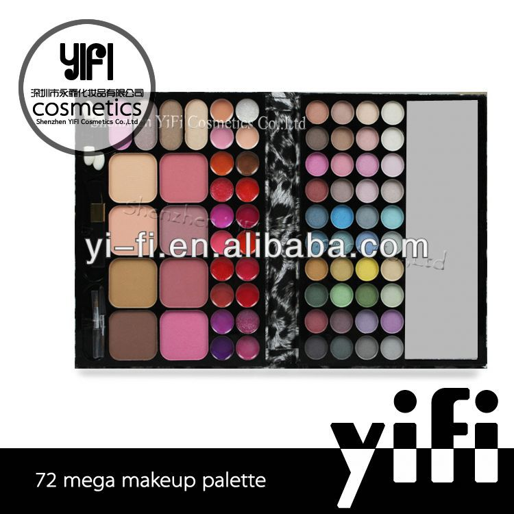 Distributor! TZ 72 leopard makeup palette super flash white pearl pigments for eye shadow