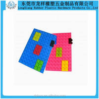 Silicone rubber embossed block button design notebook cover