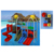 large plastic children amusement park outdoor water playground set equipment for kids