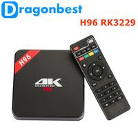 2017 hot style H96 RK3229 1G 8G TV BOX mini hd media box 1080p with Long Servi Life Android 6.0 player