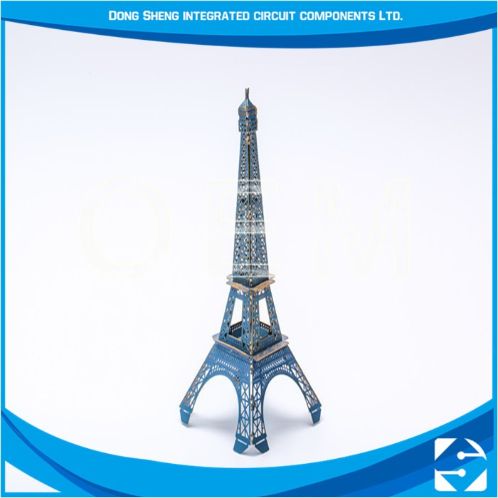 Cheap Custom Metal Blank Photo Chemical Etching Dubai Tower Souvenir