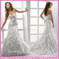 WD1232 popular style from suzhou china mermaid bridal wedding dresses 2015 sweethearted ruched bust grecian bridal gowns