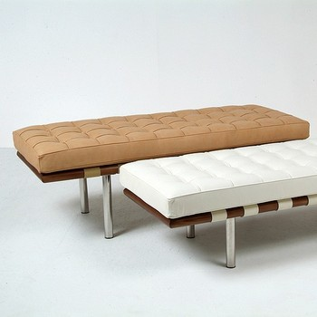 PU/Genuine leather barcelona style bench Bed