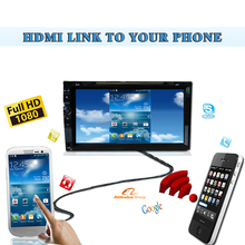 HDMI 1080P TV 6.95inch universal fit Wireless Phone Link Fm Wifi DVD GPS Navigation