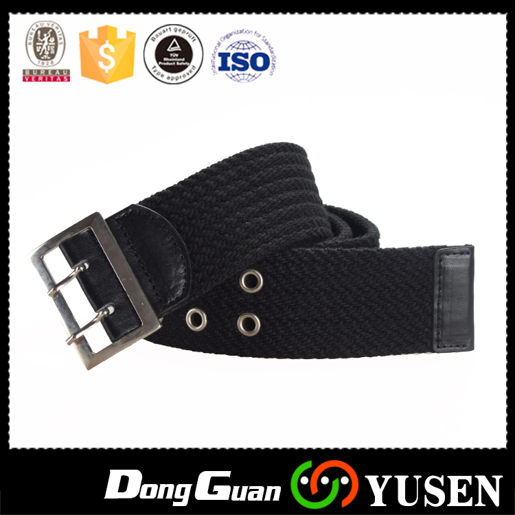 2017 Crazy Selling multicolor double d-ring canvas belt