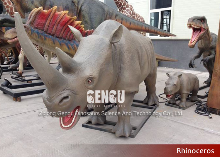 Remote Control 3D Dicerorhinus Robotic Animals