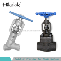 three bonnet design two-piece self-aligning gland globe valve drawing