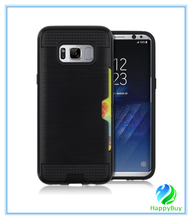 Luxury cell phone case for Samsung galaxy S8 phone case special TPU+PC material and card slot design