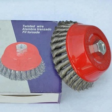 "Premium 2-1/2"" Knot Cup Wire Brush for angle Grinder"