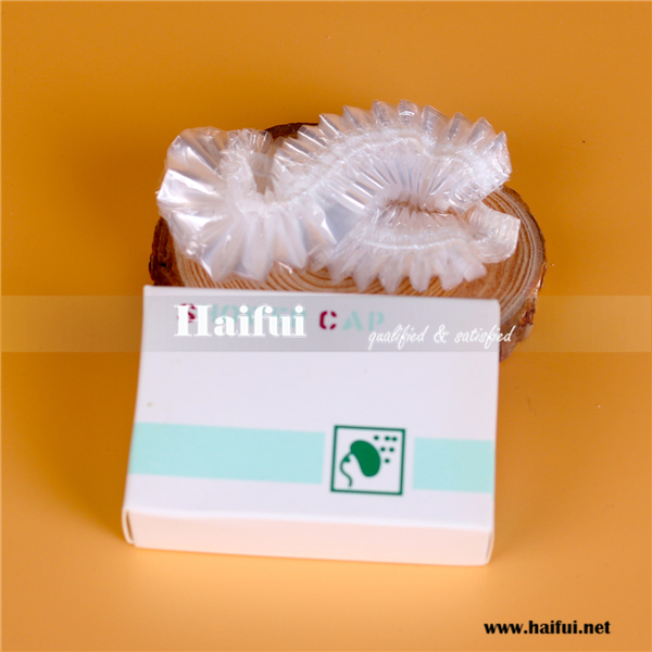 Disposable PE shower cap for hotel and home use