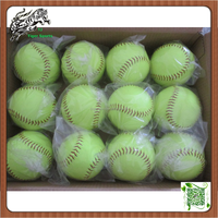 Selling fast softballs Fluorescent Yellow color 12 inch High Quality Slowpitch Fastpitch Softballs