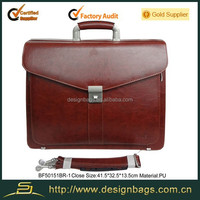 Hot sell leather women briefcase lady briefcase wine red briefcase