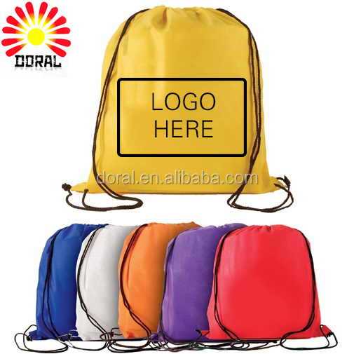 New selling customized design nylon cheap drawstring backpack