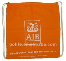 High quality promotional red cotton drawstring bags