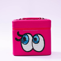 Best design big eyes fashion travel cosmetic bag wholesale