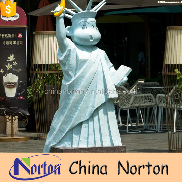 bule cartoon custom resin Statue of Liberty for square decoration NT-FSD023