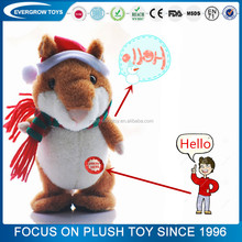 OEM plush talking hamster mimicry pet toy hamster animal toy hamster toy