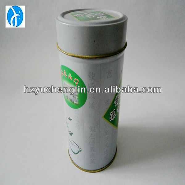 Cylinder airtight tea tin containers professional manufacturer