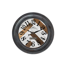 Healthy and natural handmade retro antique style wood wall clock for wall and home and living room decoration
