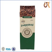 Heat sealed laminated coffe packaging bag coffee bags foil /Aluminum Foil coffee bag with valve