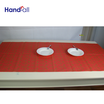 Customized Golden color disposable Air Laid Paper Table cover