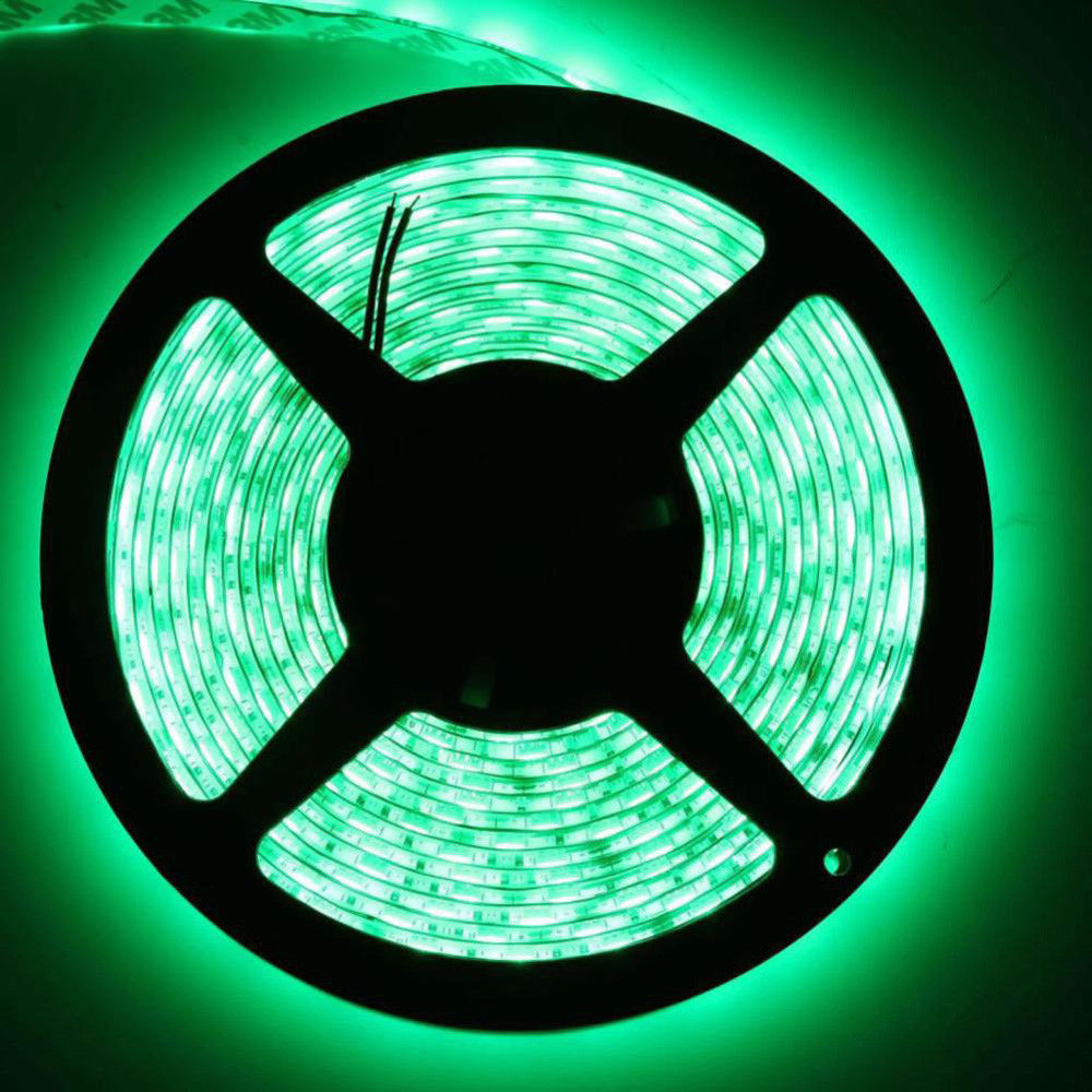 U L Waterproof Green 5M DC12V SMD5050 60led/<strong>M</strong> led lamp strip for Home KTV Room Shopping Mall Kitchen Office Seasonal Celebration