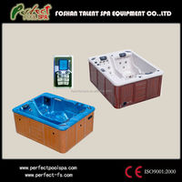 Couple bathtub massage plastic hot spa tub