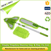 Folding window cleaning mop microfiber triangle dust mops for tile floors ceiling cleaning mop