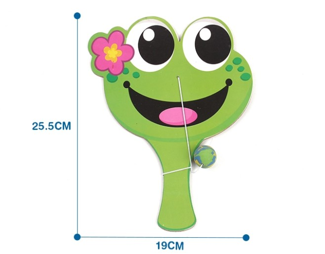 Mini wooden Frog racket paddle Chinese Toy Manufcatorures/rubber ball toy Gift set Promotion children sport toys