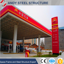 Steel space frame gas station / petrol station canopy
