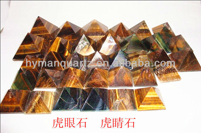 Delicate and natural clear crystal quartz pyramids,black crystal pyramid