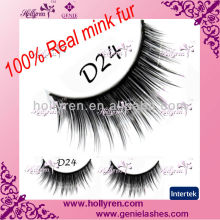 4 Color Printing Packaing Real Mink Fur eye lashes