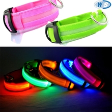 PP Flashing Led Safety Dog Collar Safety Pet Collar with plastic detach buckle