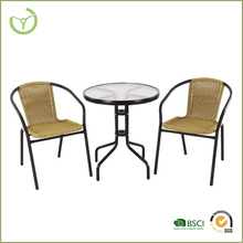 2016 multicolor outdoor rattan bistro set/cheap bistro set