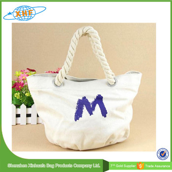 2016 Wholesale Cheap Christmas Cotton Shopping Bag With Handle