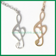 Customized hot sales Zinc alloy Metal Musical Symbol Gold O Ring Souvenir Keychain