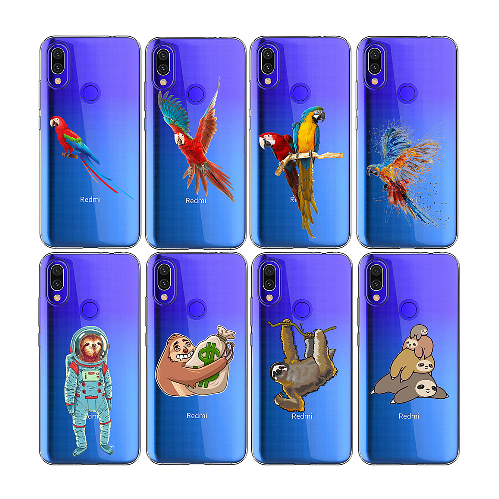 Folivora scarlet macaw <strong>designs</strong> TPU Mobile Phone Case For xiaomi redmi 6A K20 PRO GO
