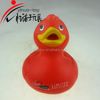 Squeaky PVC toy,floating plastic toy,red rubber duck