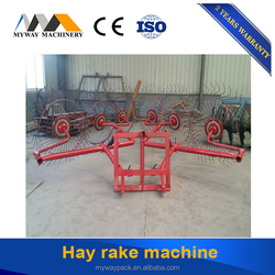Factory supply small tractor hay rake rotary raker for sale