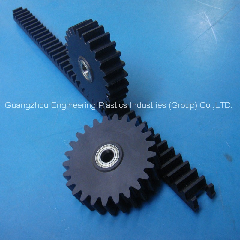 professional custom machining parts black polyamide nylon plastic gear rack manufactures