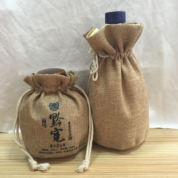 Fancy jute burlap wine bottle bags wholesale buy