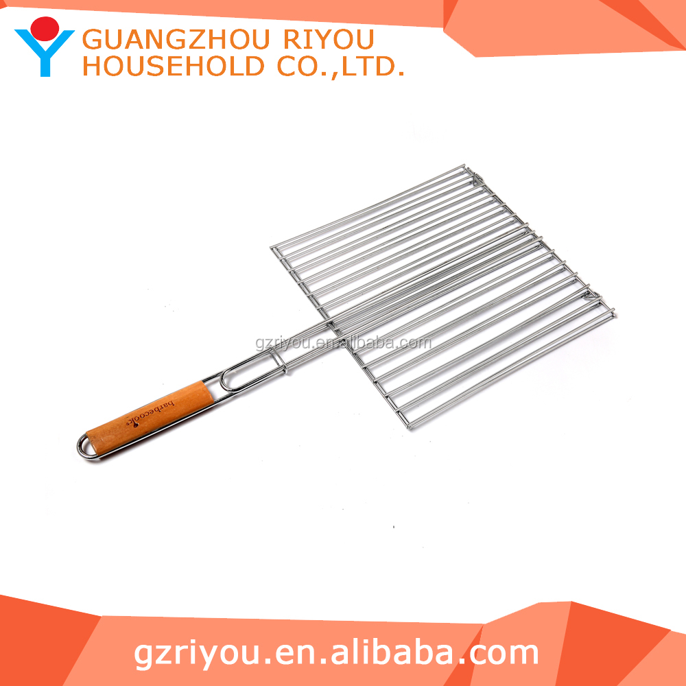 Burger Meat & Sausage & Vertable Roasting Grill Grid Basket for Barbecue Party