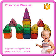 100pcs Special design Customized preschool magnetic building toy with ASTM approved