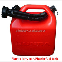 The functional 5L plastic jerry can/plastic gasoline diesel fuel container for outdoor