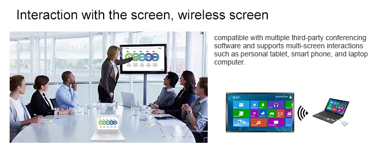 Multi-media All In One touch screen flat panel LED infrarood touch whiteboard met gratis touch pen