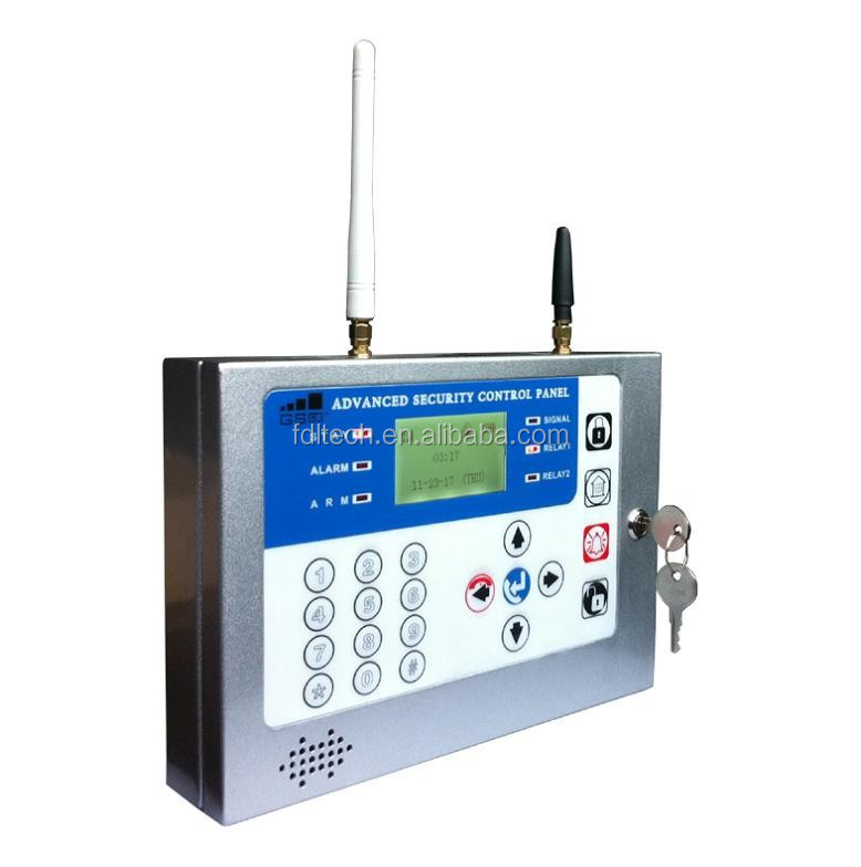 Quad-band/2 relay output(Dry contact,NC/NO/EOL)Easy install & operate security home alarm system,configuration by LCD+Keyboard